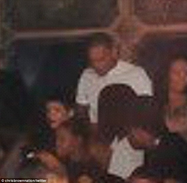 chris brown and rihanna spotted at the griffin club in the meatpacking district