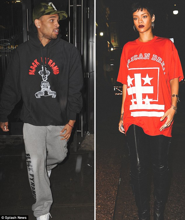 Chris Brown seen reportedly leaving Rihanna's hotel.