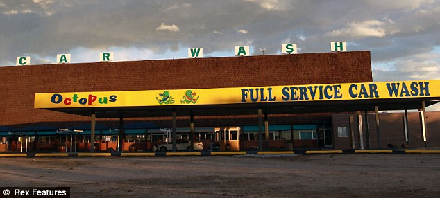 Iconic: The car wash that Walt and Skyler purchase to help them launder money