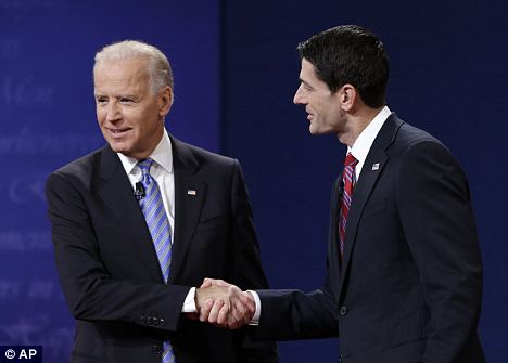 Who looks nervous: A political commentator said that Joe Biden and Paul Ryan were likely extremely nervous before going on stage Thursday night