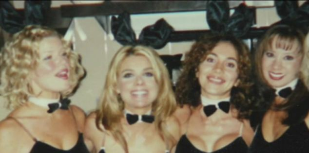 Cocktail waitress: Seen smiling with colleagues in this photo, Tiaffay (pictured second from left) had finished a late shift before coming home, where she was attacked