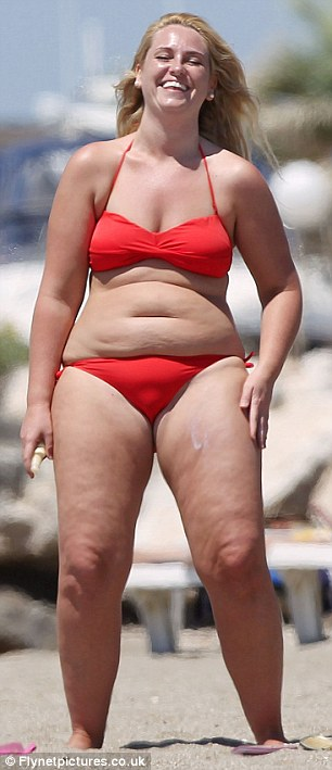 Shock tactics: Josie decided to overhaul her body after seeing these pictures earlier this year