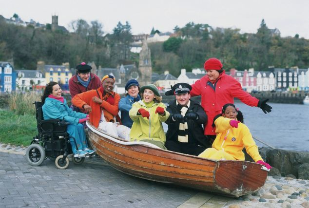 The television series Balamory was filmed on the Isle of Mull and the beloved characters all jumped on the Balamory Express