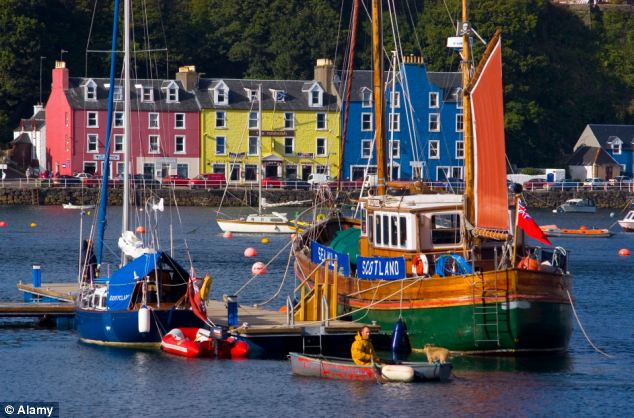 The picturesque town of Tobermory on the Isle of Mull was the setting for Balamory