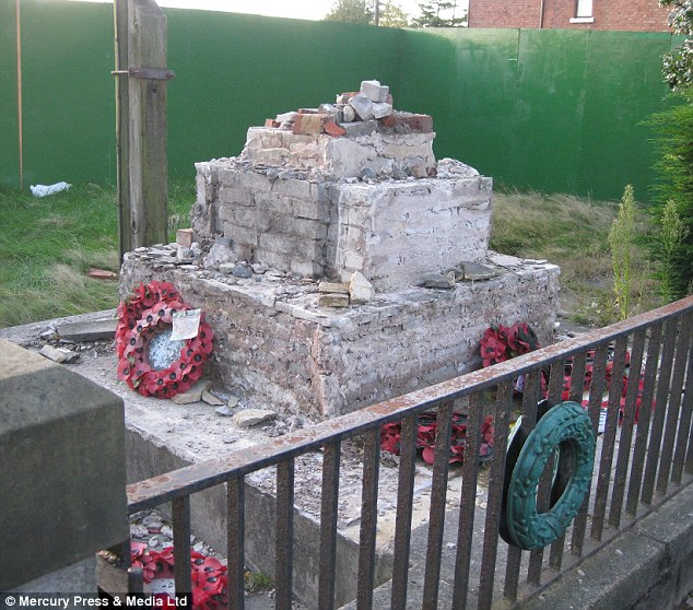 'Disgrace': The memorial was removed from defunct Comrades Club in Ormskirk, Lancashire
