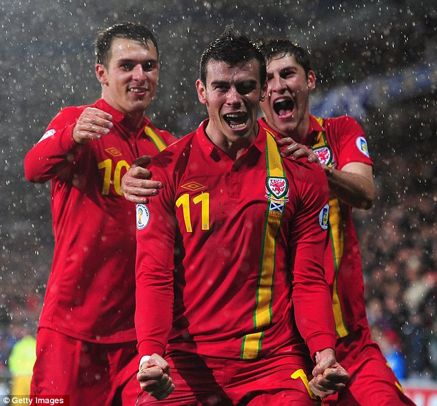Double trouble: Gareth Bale sealed the win for Wales with a long range stunner