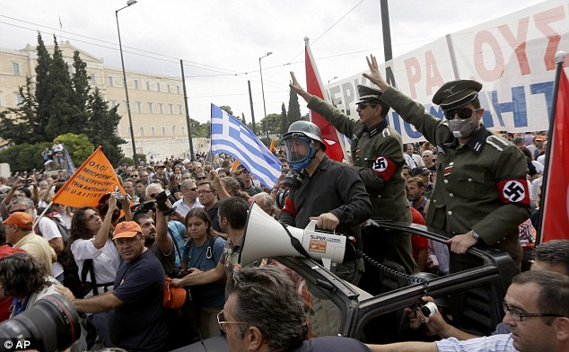 Greeks are angry at the draconian austerity measures imposed on them by the German-led 'Troika'