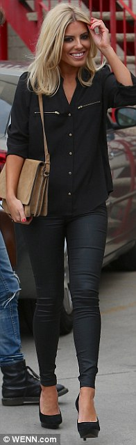 Dressed to impress: Una Healy, Rochelle Humes and Mollie King all wore stylish outfits for the recording session