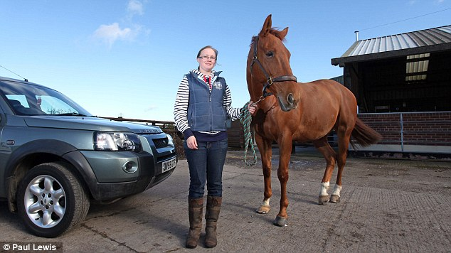 UNBRIDLED SUCCESS: Stephanie Baldwin, with Max, put a tracking box in her Land Rover Freelander and has slashed the cost of her car insurance