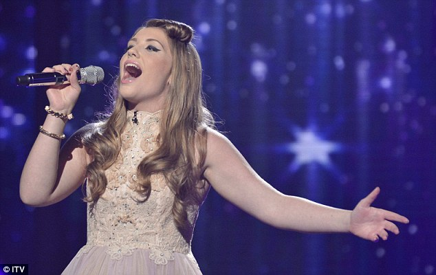 Stellar: The 16-year-old blew the judge away with her performance of Take That's Rule The World at last week's show