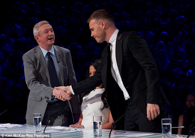 Still angry: Gary has admitted that he's still furious with Louis Walsh but put it behind him on Saturday night's show