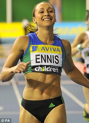 GOOD SHAPE: Aviva, which sponsors  Olympian Jessica Ennis, is on the mend