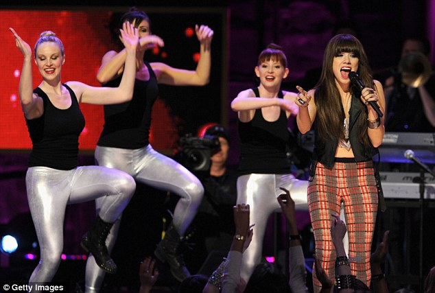 Midriff special: The Call Me Maybe singer was clearly having a ball with her dancers