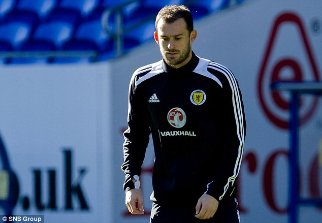 Welcome back: Steven Fletcher returned to the Scotland squad, but was unable to lift his side to a victory