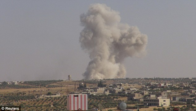 War-torn: Government forces have been dropping cluster bombs in civilian areas