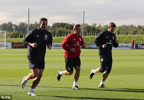 In and out: Captain Steven Gerrard (right) will return to the England side in Poland but Frank Lampard (left) has not recovered from his calf injury
