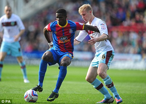 Not for sale: Wilfried Zaha is staying at Palace, says co-chairman Steve Browett, despite interest from the Premier League