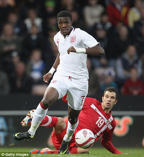 Recognition: Zaha has also featured for England Under-21s, including in the play-off against Serbia on Friday