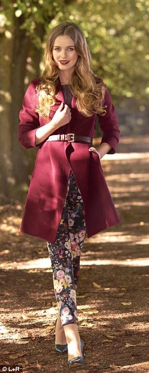 Trousers, £34.99, mango.com, Leather top, £129, marksand spencer.com Coat, £180, banana republic.gap.eu Shoes, £49.99,  hm.com Belt, £49,  hobbs.co.uk