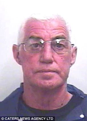 Rapist: Graham Kelly, 59, jumped over a fence armed with the kitchen blade and raped the woman in a stable in Driffield, near Hull, East Yorkshire, after stalking her for weeks