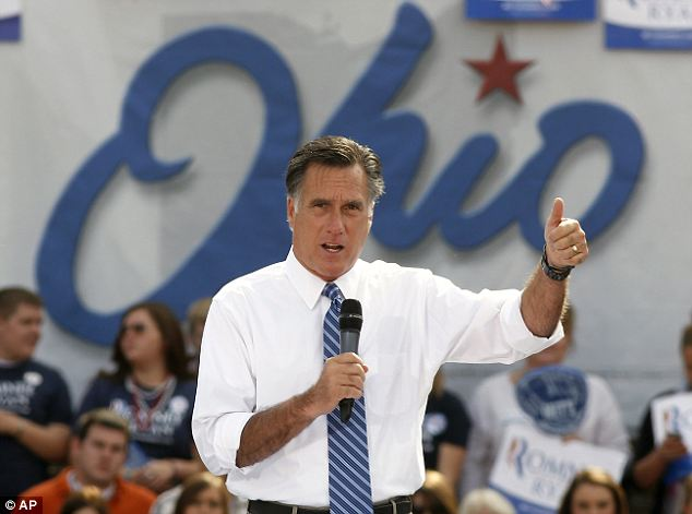 Swing states: Mitt Romney has spent much time in Ohio, which is repeating its frequent role as a pivotal swing state