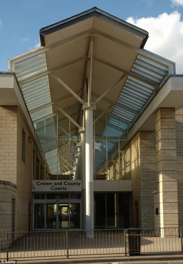 Appearing at Northampton Crown and County Courts (pictured), Roberts was jailed for eight years and nine months