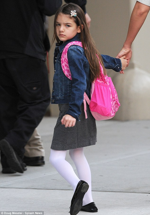 I've got that Monday feeling! Suri's smile was long gone as she headed into Avenues this morning
