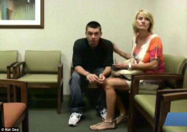 Enabler: His mother joins him as they visit a specialist doctor in Dallas to see how he can get over the addiction