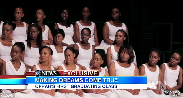 The class:  Ms Winfrey handpicked 72 underprivileged girls from South African shantytowns, giving them the opportunity to leave their homes for higher education