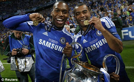 Bit part: Sturridge played a limited role in Chelsea's surge to Champions League glory