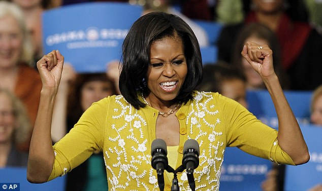 Rally: Michelle Obama, campaigning in Cleveland today, told a radio show last week that the U.S. economy was in recovery, contrary to the latest statistics