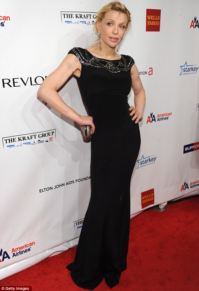 Up then down: The Golden Globe-nominated actress was literally waifish as recent as last November while attending an Elton John AIDS benefit