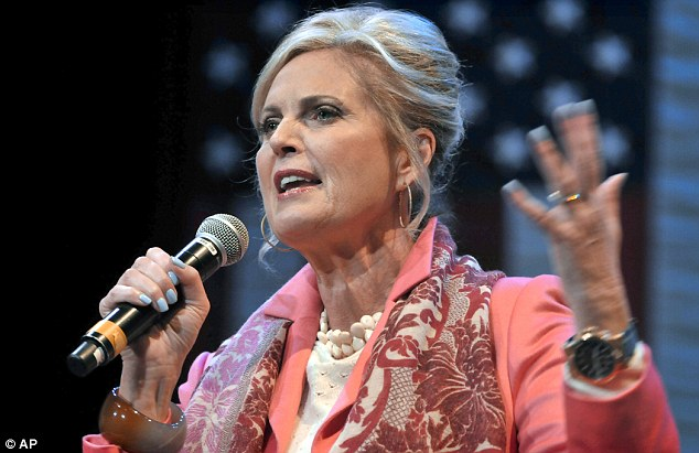 Optimistic: Ann Romney speaks to a crowd at Elizabethtown College on Monday where she promised female voters a better economic outlook