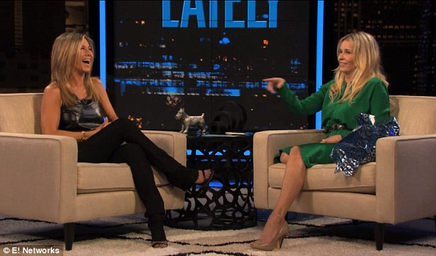Girl talk: The ladies shared a laugh while Jen opened up about her love life