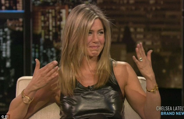 Welling up: Jennifer got emotional when she talked about her engagement