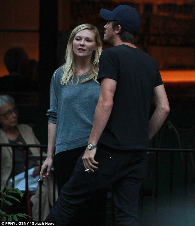 Her usual look: Kirsten usually sports a more dressed down and less coiffed look when spending time out with boyfriend Garrett Hedlund