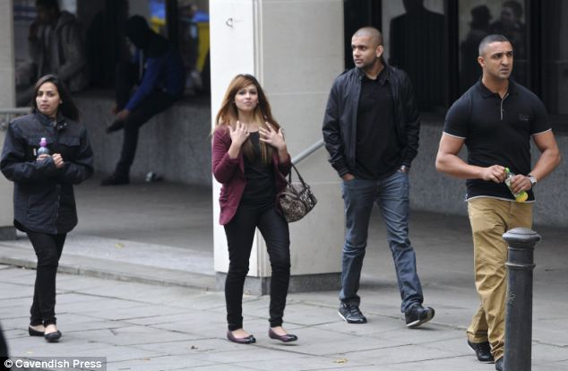 Ms Khatoon's family and friends (pictured at Manchester Crown Court yesterday) disapproved of her relationship with Arif, whom she married in a secret Sharia ceremony