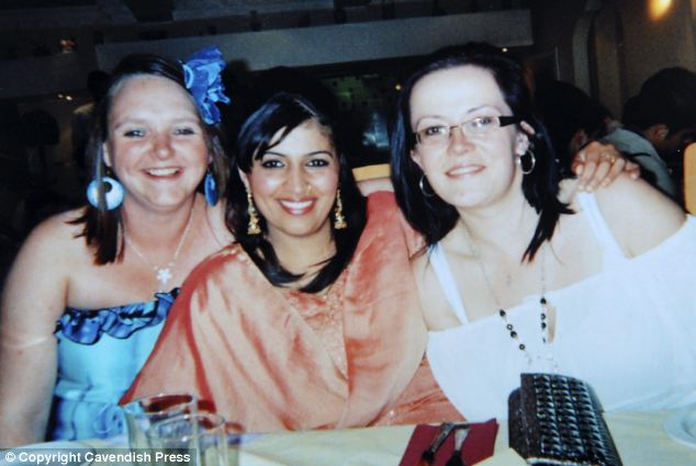 Saiba Khatoon (pictured centre with friends Sandra and Elisha Barnes) was stabbed to death by husband Siraj Arif in a 'merciless' attack