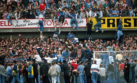 Tragedy: Ninety-six Liverpool supporters were killed in the crush