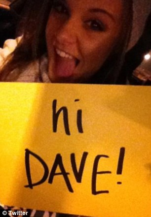Users are sending Dave their own pictures, making virtual friendships over Twitter