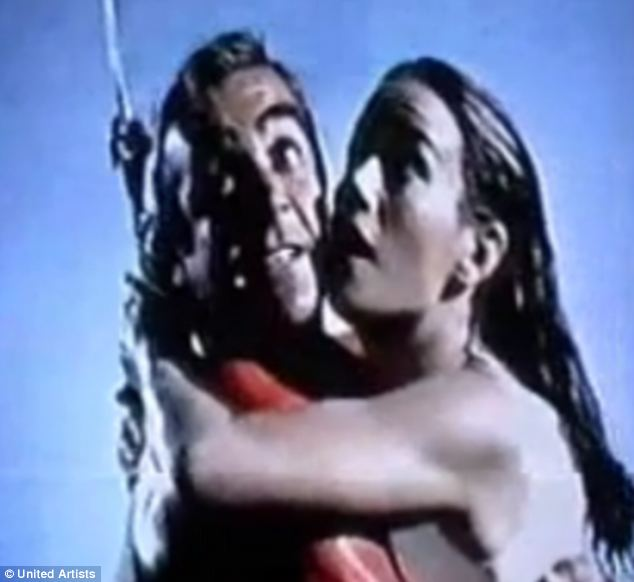 Thunderball: James Bond and Dominique 'Domino' Derval are rescued by a sky hook-equipped U.S. Navy plane in the 1965 movie