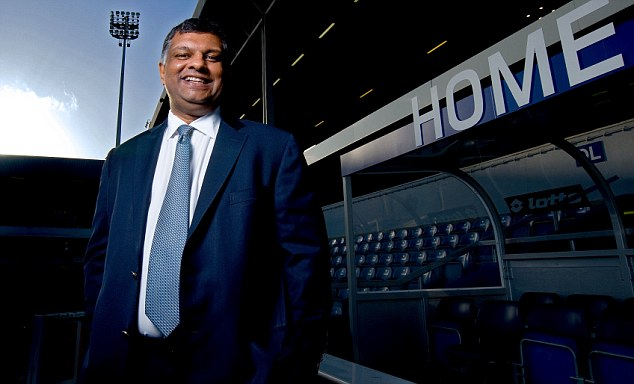 Make yourself at home: QPR owner Tony Fernandes is very quick to turn to Twitter to discuss club issues