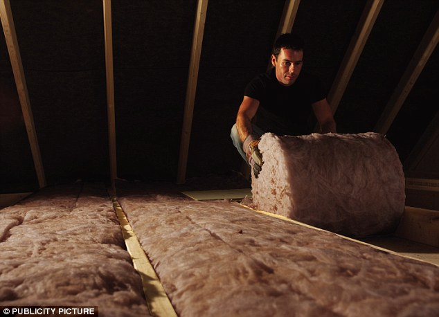 Savings: Loft insulation being fitted