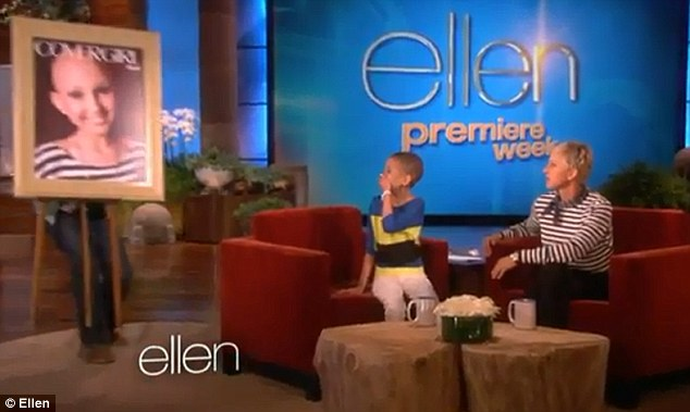 Surprise: Chat show host Ellen DeGeneres unveiled Talia's CoverGirl poster