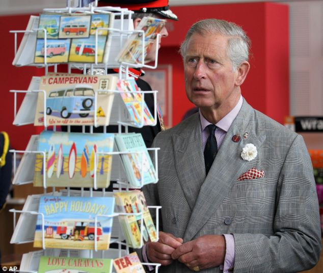 The letters of Prince Charles, pictured during a visit to the Heartlands Community Regeneration Project in Truro, will not be released