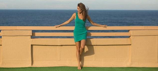 Model: Ms Treacy, who lives in New York, also owns her own bikini line - Kini Bikini