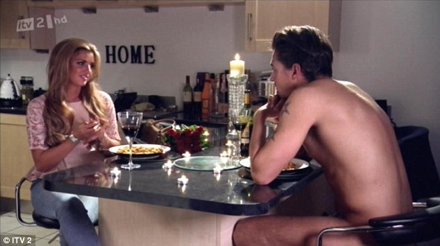 Making amends: Mario attempted to patch things up by cooking a meal for Lucy while he was completely nude
