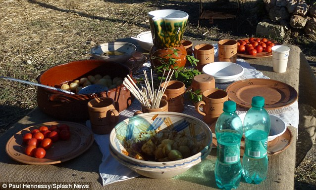 Italian feast: Guests are reported to have enjoyed a picnic consisting of traditional cuisine