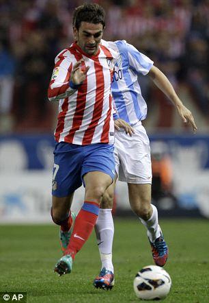 Hot shot: Atletico Madrid's Adrian Lopez