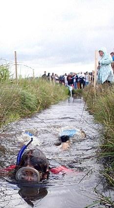 Damp course: Bog Snorkelling at Llanwrtyd Wells in Powys